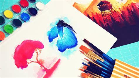 dibujos para pintar con acuarelas principios b 225 sicos tutorial t 233 cnica de acuarela