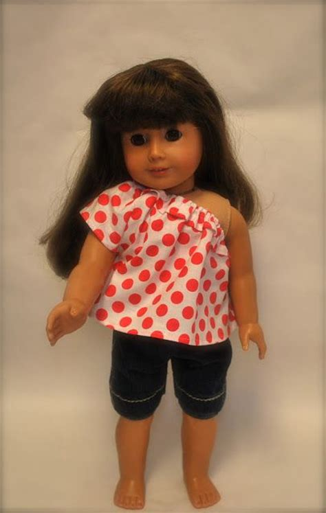 American Girl Shorts And Summer Top Tutorial And Template Printables 18 Quot Dolls American Doll Clothes Templates