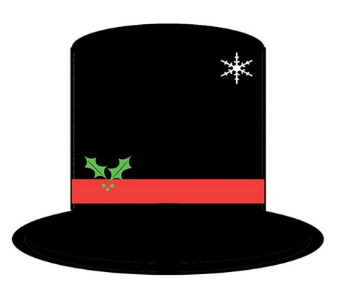 How To Make A Snowman Hat Out Of Construction Paper - printable snowman hat pattern rendition of the hat