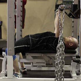 chain bench press bench press with chains exercise guide and video