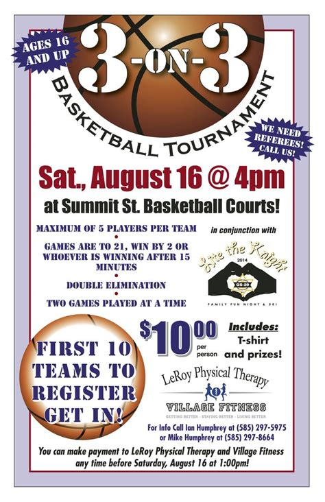 register for our 3 on 3 basketball tournament this goes