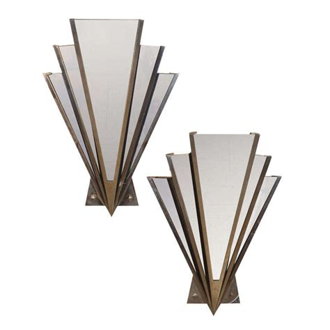 Murano Glass Wall Sconce Art Deco Mirrored Sconce At 1stdibs