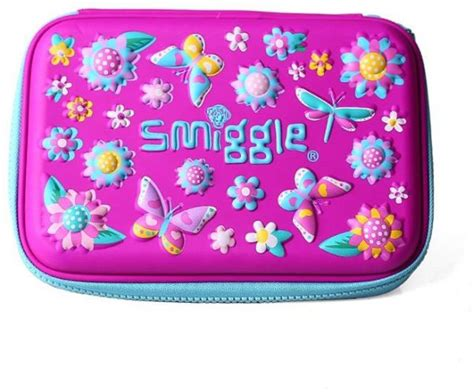Smiggle 3 Zipper Hardtop Pencil 1 smiggle scented butterfly colorful hardtop 3d pencil