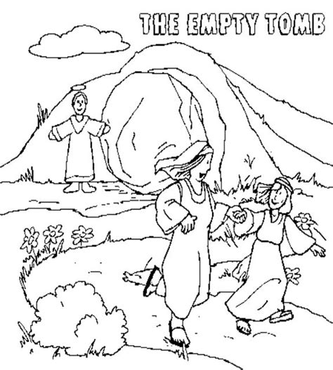 empty tomb coloring pages preschool 12 images of empty garden coloring pages jesus is risen