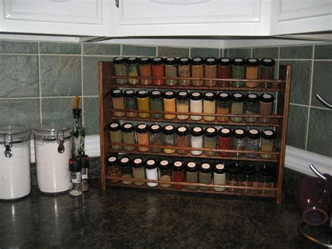 48 Jar Spice Rack decorative spice rack with jars handmade 48 jar capacity