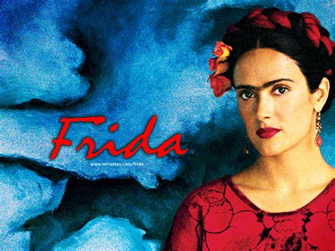 frida kahlo biography in spanish frida salma hayek wallpaper 14697314 fanpop