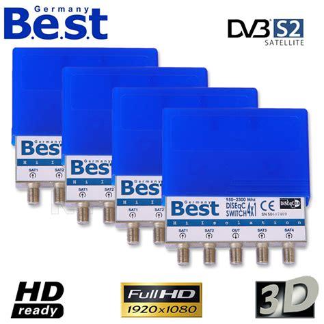 Dijamin Diseq Soccer Plastik 4x1 4x best germany 4 1 diseqc schalter diseq umschalter 4 sat