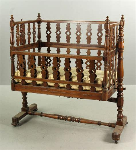 Mahogany Crib by Lot Detail Large Swinging Drop Side Mahogany Crib