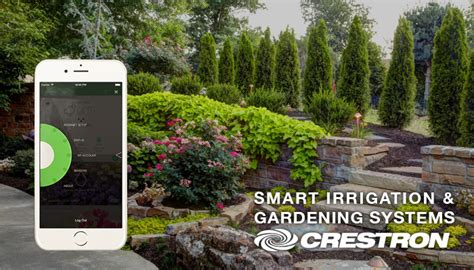 smart irrigation and garden with crestron automation