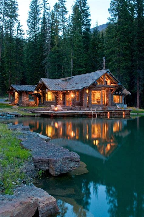 Big Cabins On The Lake by Best 25 Log Cabins Ideas On Log Cabin Homes