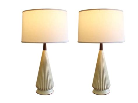 mid century modern table l shades pair of mid century modern l shades ebth lights and ls