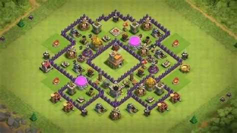 layout of coc level 7 what is a good base design for level 7 town hall in coc