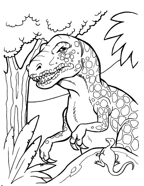 how to print in color dinosaur coloring pages to and print for free