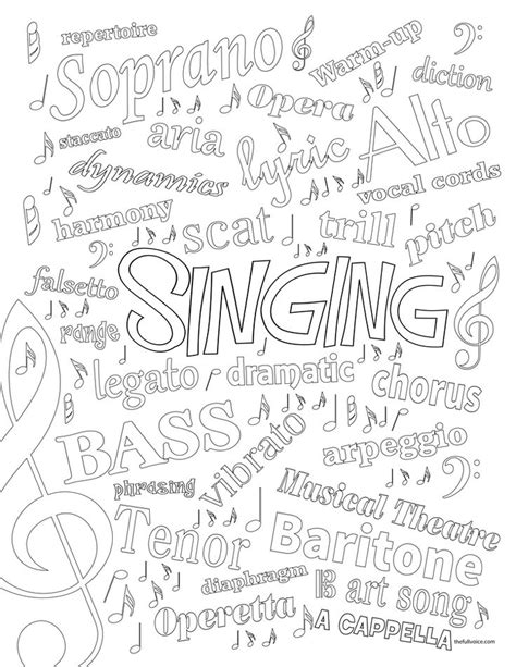 music quotes coloring pages 12 best images about free music coloring pages on