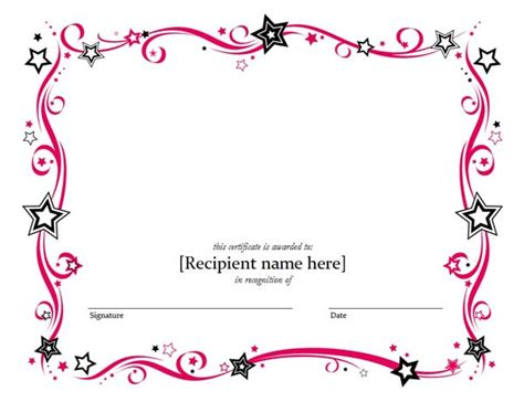 blank certificate template certificate borders for microsoft word studio design