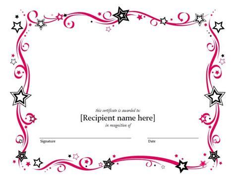Blank Certificate Templates
