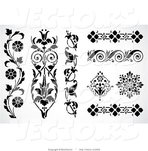 borders design elements vector vector of 8 unique floral edges and borders decorative