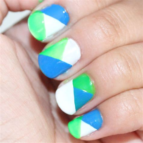 color nails color block nails tutorial jhoy