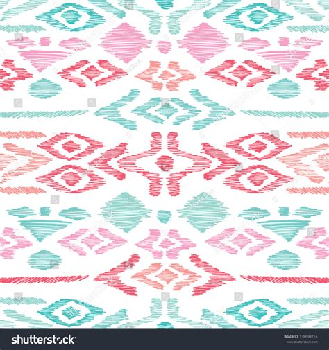 aztec pattern in pink seamless blue pink aztec vintage folklore background