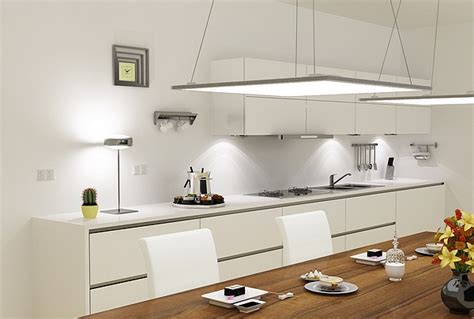 contemporary kitchen lighting ideas led panel light fixtures modern and efficient home