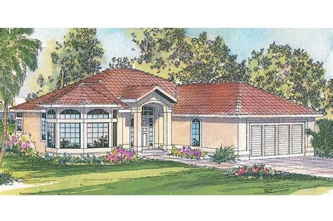 Mediterranean House Plan by Mediterranean House Plans Velarde 11 051 Associated
