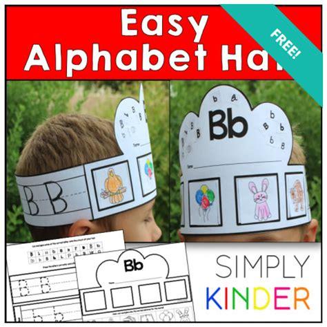Printable Alphabet Hats | free printable alphabet hats craft