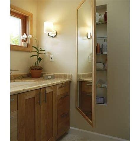 Full length mirror on a recessed medicine cabinet bathroom pinterest contemporary
