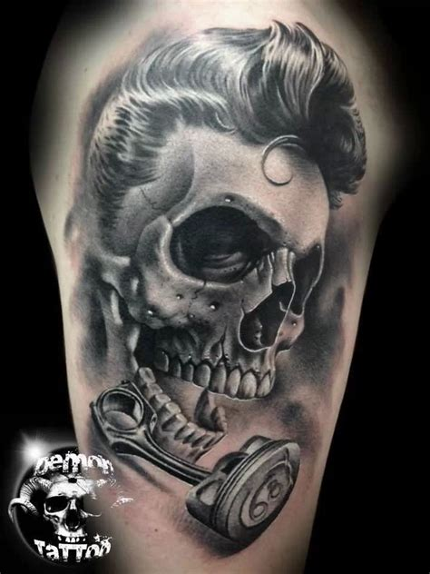 demon skull tattoos images designs
