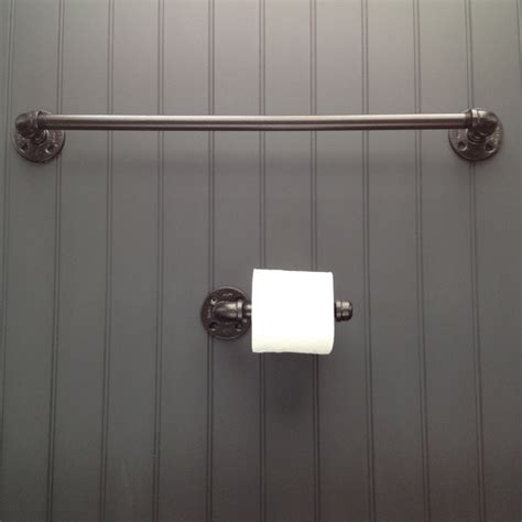 pipeline bathrooms finished pipe bathroom fixture set with two towel racks