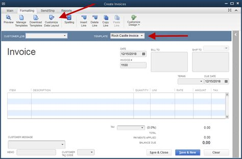 how to create a new invoice template in quickbooks adding the company phone number to an invoice template
