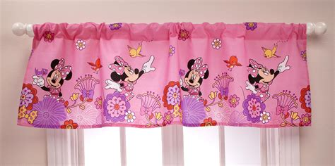 minnie mouse curtains pink com disney 4 piece minnie s fluttery friends