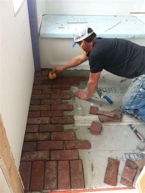 how to do a bathroom floor brick bathroom floor finish materials pinterest