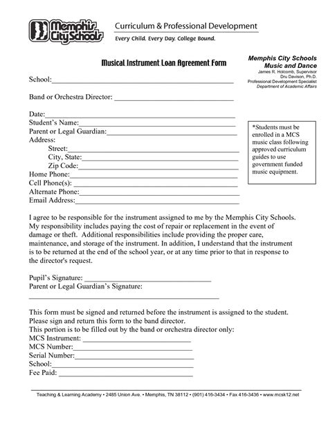 loan agreement letter template free printable loan agreement format and template