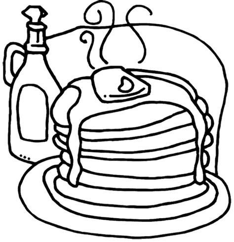 coloring pages of pan cake pancakes coloring page cookie pinterest pancakes