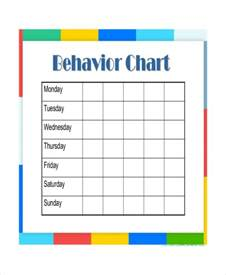 Behavior Template daily behavior chart templates 6 free pdf documents