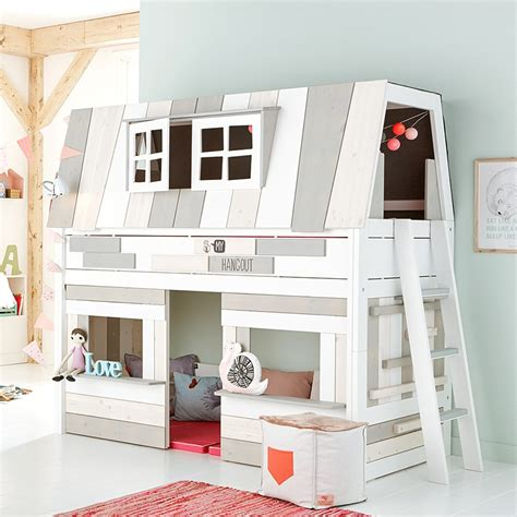 Childrens Mid Sleepers by Hangout Mid Sleeper Bed With Play Area Mid Sleeper