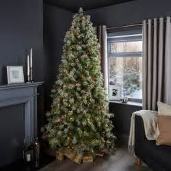 7ft 6in fairview pre lit pre decorated christmas tree