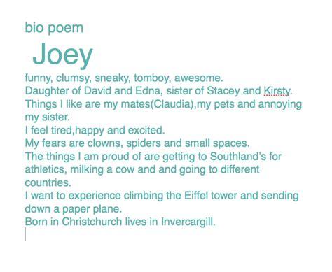 oceans of teaching ideas bio poem must have freebie till bio poems