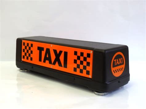 Taxi Light by Make An Order Magnetic Roof Sign Taxi Light Taxi L