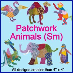 Patchwork Animals - machine embroidery designs at embroidery library