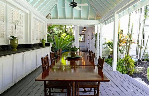 Tropical Outdoor Kitchen Designs 15 Porch Design Ideas With Outdoor Kitchen