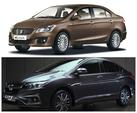 maruti suzuki price in india maruti suzuki ciaz vs honda city 2017 price in india