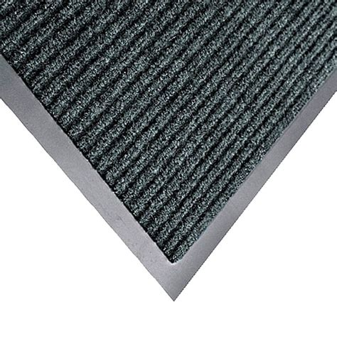 Ribbed Door Mat by Apache Mills 3 X 5 Gray Carpeted Floor Mat With Ribbed