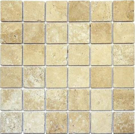 2x2 Floor Tile by Mosaicsandtile 2x2 Ivory Travertine Honed Wall And