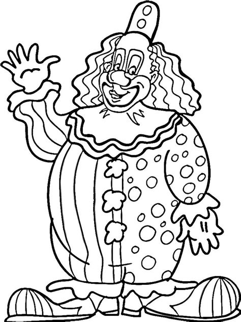 Printable Clown Coloring Pages Coloring Me Clown Coloring Page