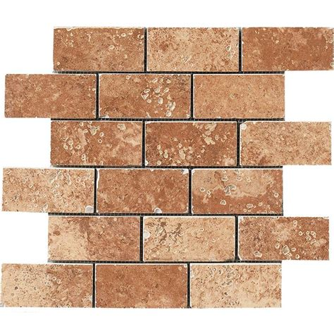 Home Depot Brick Tile marazzi montagna soratta 12 in x 12 in porcelain brick joint mosaic floor and wall tile uga5