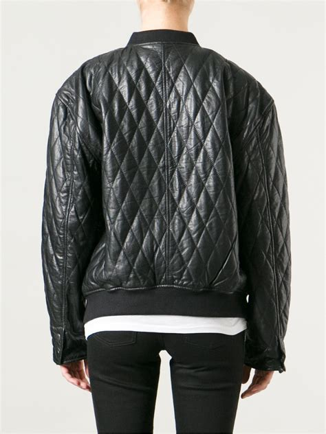 Black Quilted Jacket by Blk Dnm Quilted Leather Jacket In Black Lyst