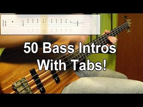 came out swinging bass tab 50 bass intros one take medley play along tabs in video