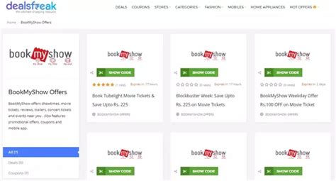 bookmyshow quora is there any site that provide coupons and vouchers for