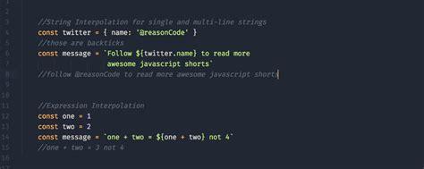 javascript shorts 1 es6 template literals strings
